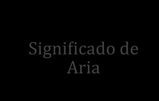 significado de aria