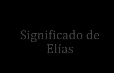 significado de elias